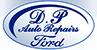 d p auto repairs logo